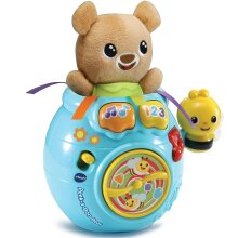 Vtech Baby Peek-a-Boo Bear In Honey Pot Soft Toy With Music, Songs and Fun Phrases