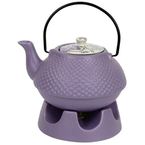 Japanese Teapot Purple Pimple With Teapot Warmer Ceramic Jameson & Tailor 6 Cup