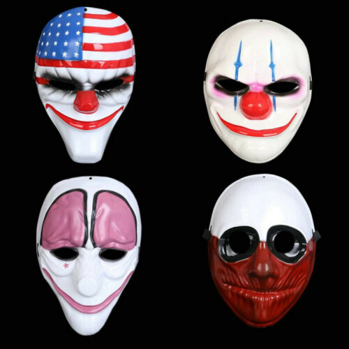 Payday 2 Chains Dallas Wolf Hoxton Hockey Mask Halloween Cosplay Mask