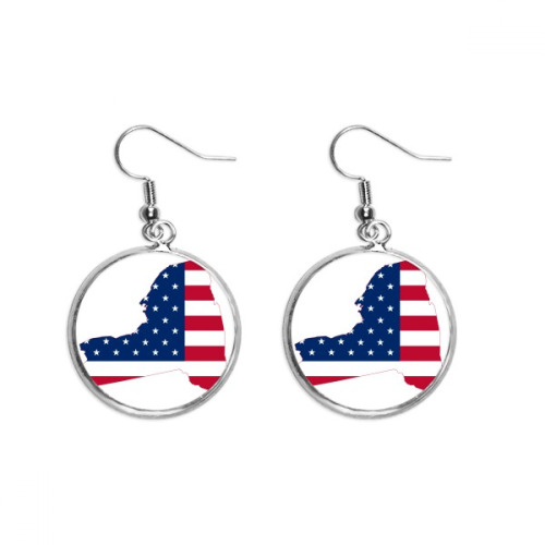 Ocean Fish Diving Science Nature Picture Ear Dangle Silver Drop Earring Jewelry Woman