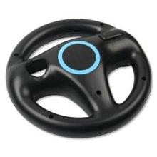 AMEEGO Steering Wheel Design Stand Mario Kart Racing Game Steering Wheel Stand For Wii Game Controller(Black)