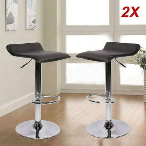 2PCS Bar Stools Swivel Kitchen Bar Stool Chair