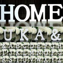 Wooden Wood Letters Alphabet Words Free Standing Wedding Birthday Party Home Decor White
