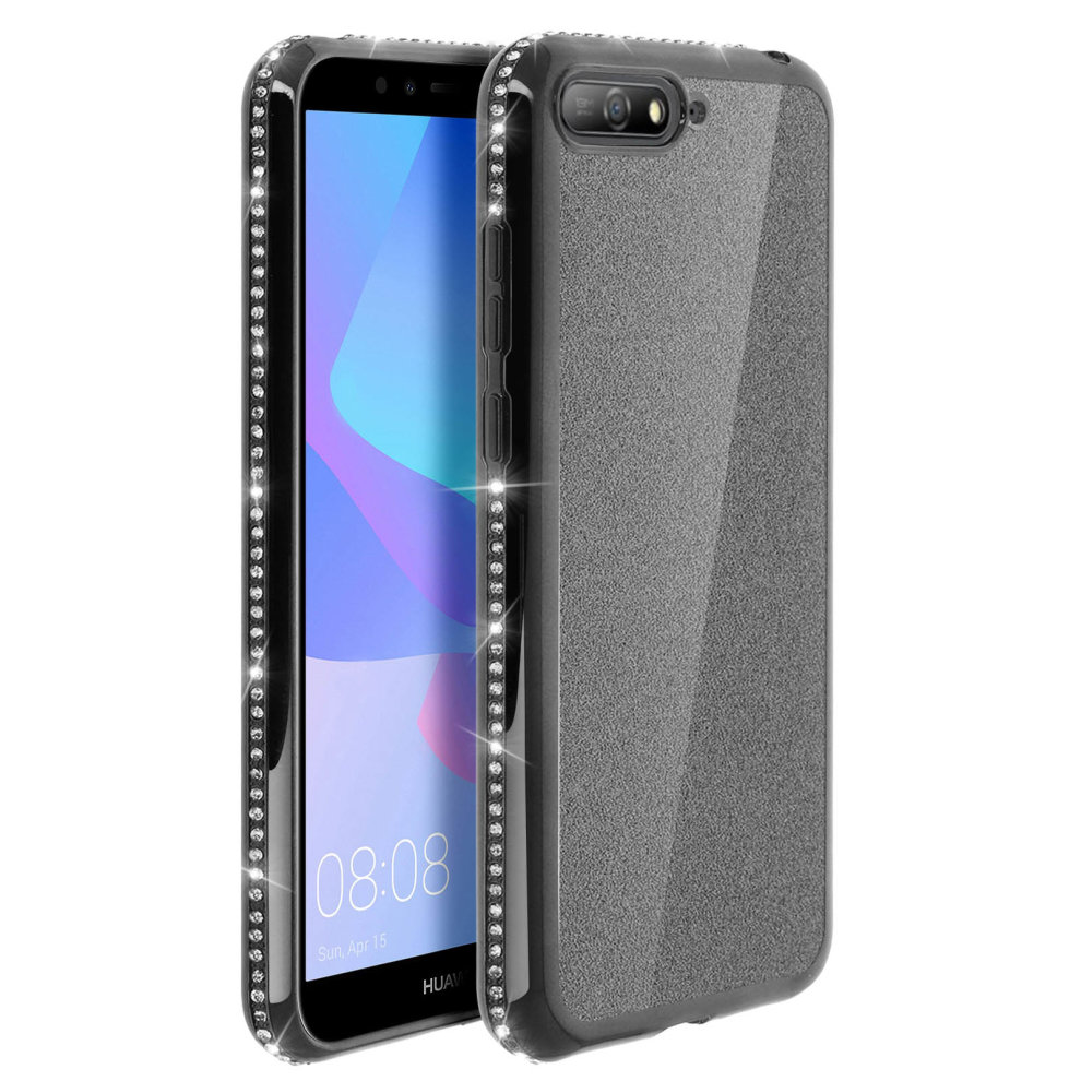 cover huawei y6 2018 con glitter