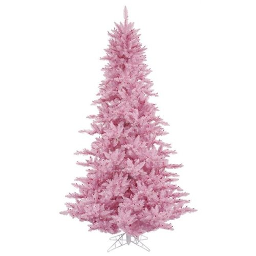 Vickerman K163730 3 ft. x 25 in. Pink Fir Christmas Tree with 234 Tips