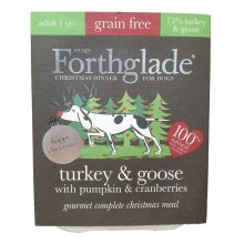 Forthglade Complete Meal Gf Gourmet Xmas Turkey & Goose With Pumpkin & Cranberry 395g (Pack of 7)