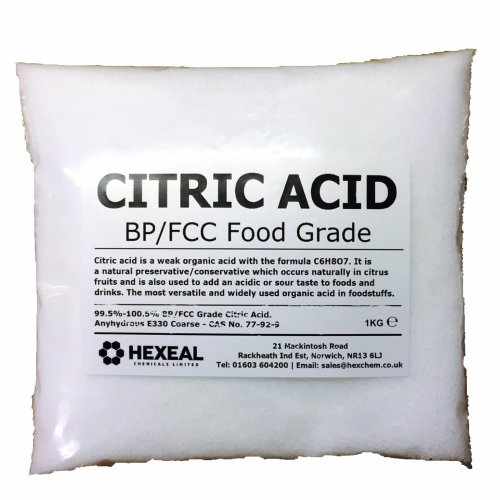 CITRIC ACID |1KG BAG |100% Anhydrous| Fine | GMO Free | FCC Food Grade
