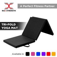 Yoga Gym Exercise Tri Folding Mat Thick Foam Fitness Workout Physio Pilates