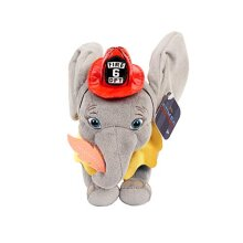 """Dumbo Live Action 7"""" Plush with Fireman Outfit"""