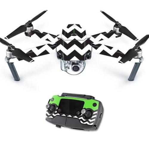 MightySkins DJMAVPRO-Lime Chevron Skin Decal Wrap for DJI Mavic Pro Quadcopter Drone Cover Sticker - Lime Chevron
