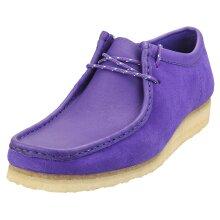 Clarks Originals Wallabee Mens Wallabee Shoes in Purple