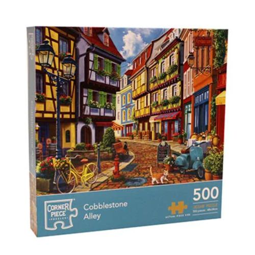 Jigsaw Puzzles 500 Piece Cobblestone Alley  Sealed Box