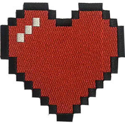 Patch - Video Games - Bitmap Heart Icon-On p-dsx-4715
