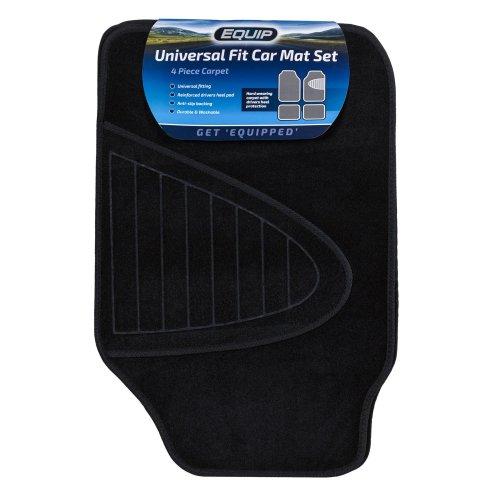 Equip Universal Fit Car Mat Classic Carpet - Black