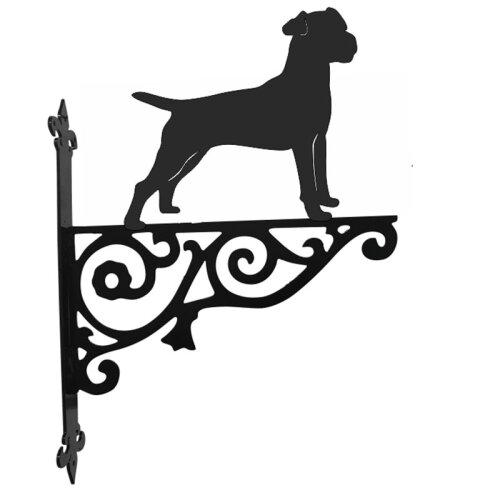 Patterdale Terrier Ornamental Hanging Bracket