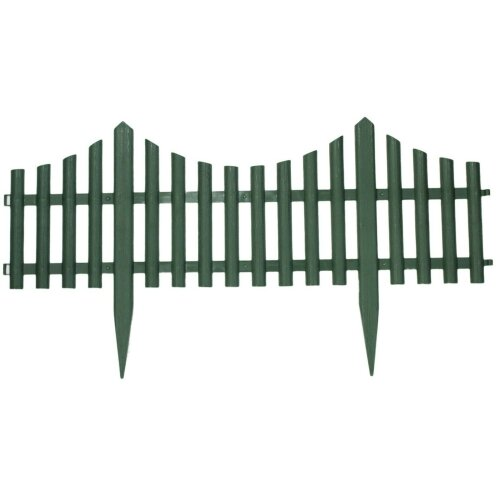 2.4M Flower Bed Garden Border Grass Lawn Edge Fence Waterproof Green Wood Effect