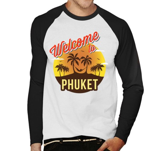 Welcome To Phuket Retro Men's Baseball Long Sleeved T-Shirt