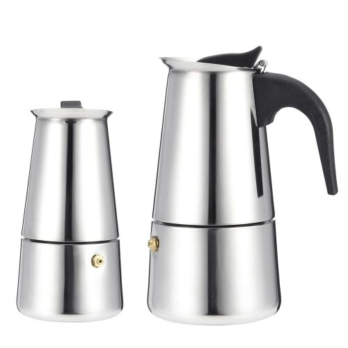 Portable Espresso Coffee Maker Moka Pot Stainless Steel With Electric Stove Filter Percolator
