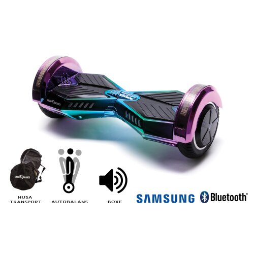 Hoverboard Smart Balance™ Premium Brand, Transformers Dakota, 8 inch, Bluetooth, Samsung Cell battery, Built-in speakers, AutoBalans, 700W, LED