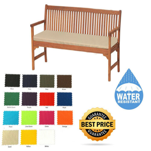 Garden Waterproof 2 3 4 Seater Bench Seat Cushions