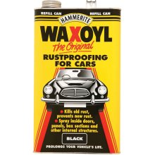 Hammerite Waxoyl 5L Refill Can - Black | Car Rust Remover & Prevention