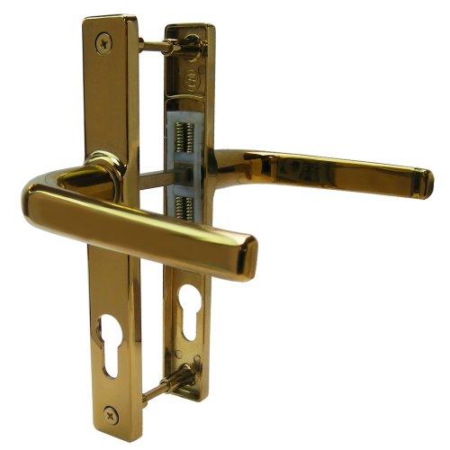 Patio Door Handle Replacement White Ultra UVPC Sprung 122mm Pair Screw Centers