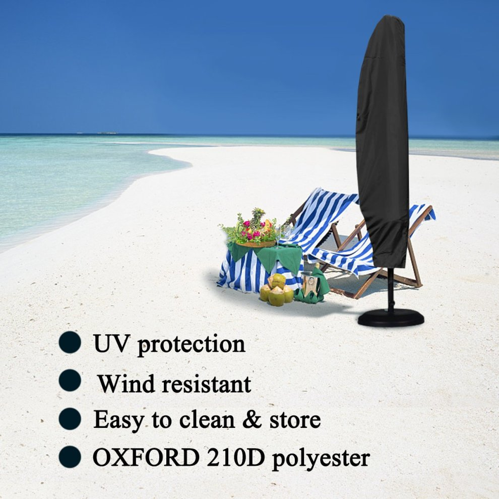 GEMITTO Parasol Cover,3M Large Parasol Umbrella Cover Weatherproof Outdoor