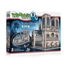 Wrebbit 3D Notre Dame Cathedral Jigsaw Puzzle - 830 Pieces