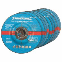 Silverline 115mm x 6mm x 22mm Depressed Angle Grinding Disc Pack x10