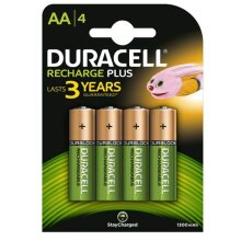 4pk Duracell 1300mAh AA Rechargeable Batteries | Pre-Charged NiMH Batteries