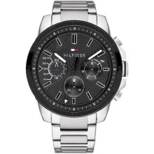 Tommy Hilfiger Men's Watch TH1791564 Silver & Black, New with Tags