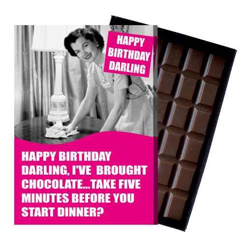 Funny Birthday Gift Girlfriend Wife Boxed Chocolate Present for Women