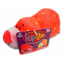 FlipaZoo Little 5 FLIPZEES Stuffed Animal Strawberry Seal Orange Peel Penguin