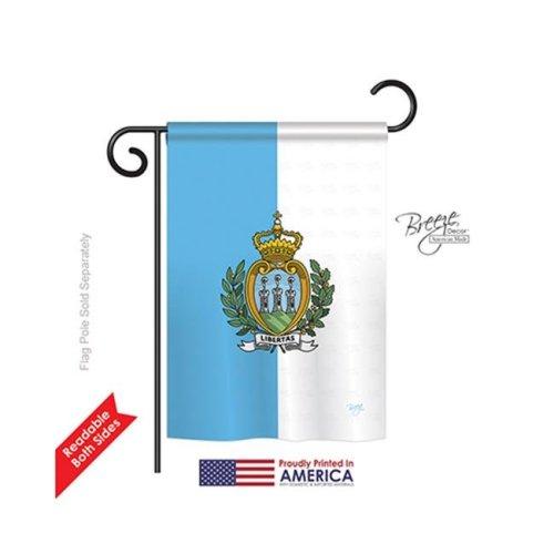 Breeze Decor 58320 San Marino 2-Sided Impression Garden Flag - 13 x 18.5 in.