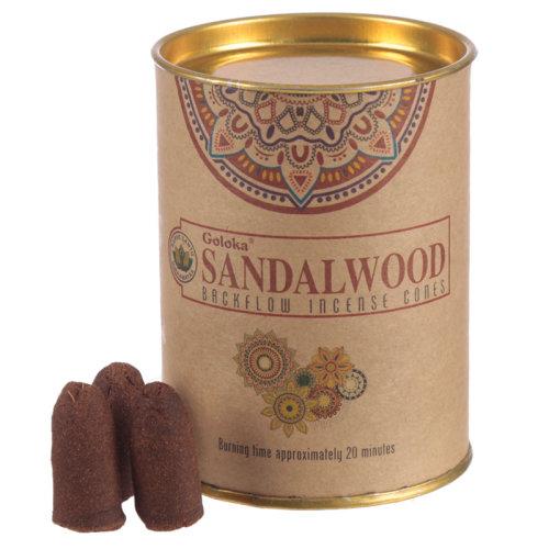 Goloka Backflow Incense Cones - Sandalwood - Set of 6