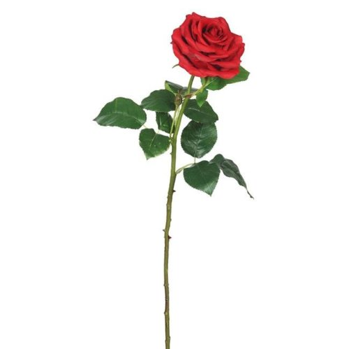 Vickerman FA173903 Real Touch Rose Floral Stem, Red - 26 in. - Pack of 3