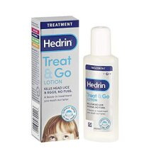 Hedrin Treat and Go Lotion, Head Lice Treatment, Kills Headlice and Eggs in One Go, 2 x Treatments - 50ml