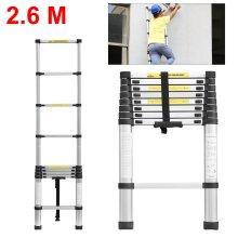 2.6M Extendable Aluminium Telescopic Ladder DIY Tool Max Load 150KG