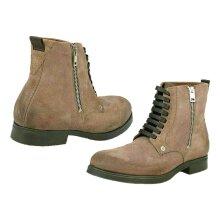 Diesel Men D-Vicious Leather Ankle Zipped Boots