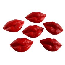 Valentines Cupcake Toppers Cake Decorations Red Lips Kisses