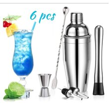6pc 24 oz Stainless Steel Cocktail Maker Kit,professional bar tool