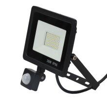 Outdoor Security 30W LED Floodlight With PIR Sensor