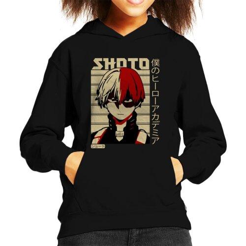 Shoto Todoroki Kanji Kid's Hooded Sweatshirt