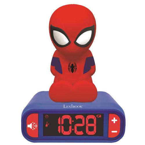 Lexibook RL800SP Kid's Spider-Man Night Light Radio Alarm Clock│Snooze