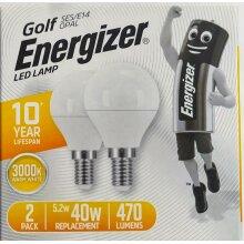 4 x Energizer LED LAMP Golf SES/E14 Bulbs Warm White replace 40W 470Lu