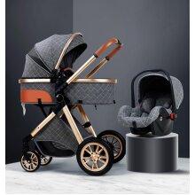 Landscape Baby Pram, Portable, Baby Pushchair, Bassinet Foldable Car
