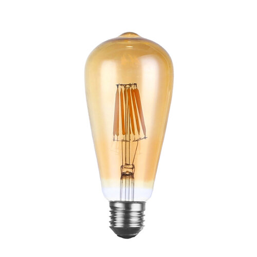 (Dimmable E27 Amber Glass) Vintage Filament LED Edison Bulb Dimmable E27Light