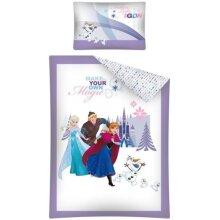 duvet cover Frozen 100 x 135 cm white / purple