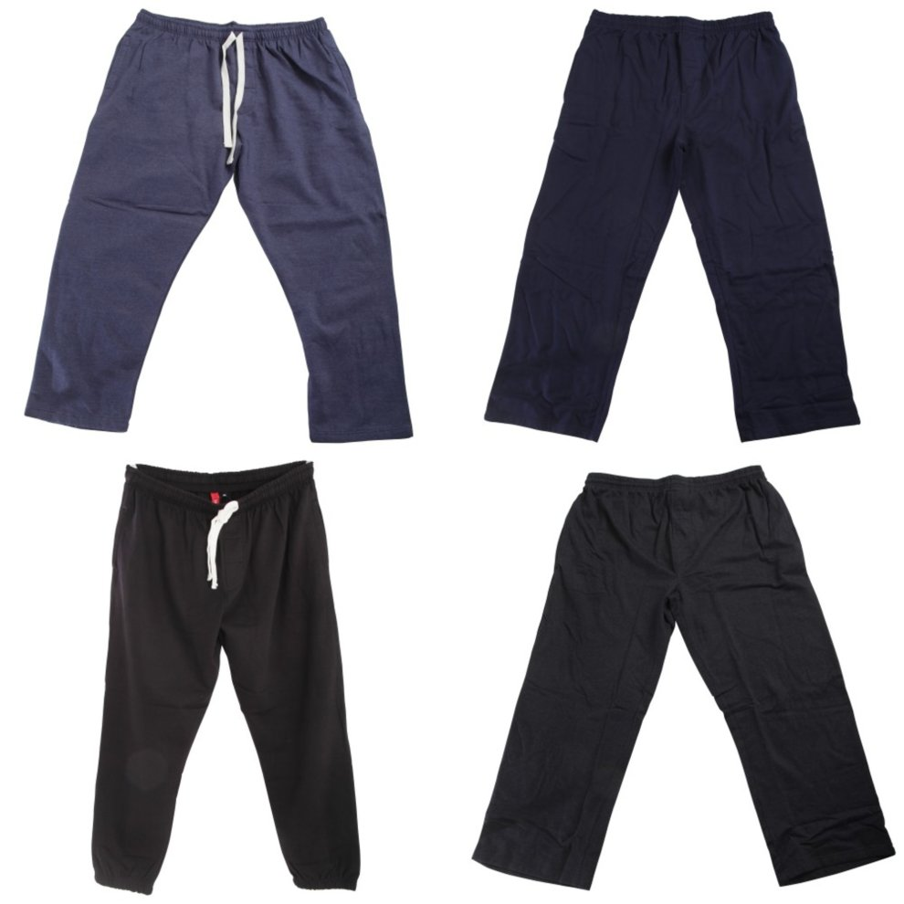 J177 Redtag Sportswear Mens Elasticated Open Cuff Plus Size Jogging Bottoms
