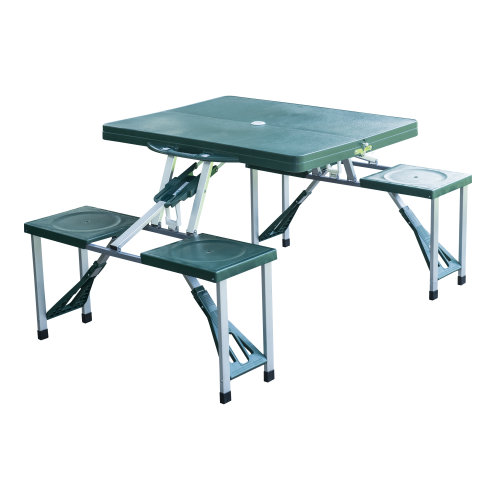 Outsunny Folding Camping/Picnic Table with Stools